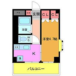 メゾン・ソレイユ[4階]の間取り