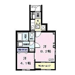 kujira-so 1階1Kの間取り