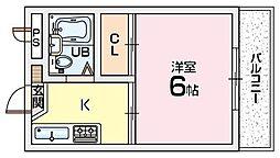フロンティア長尾2[2階]の間取り