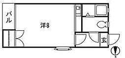 ピサ樋井川[2階]の間取り