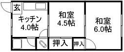 西藤第一マンション[1階]の間取り