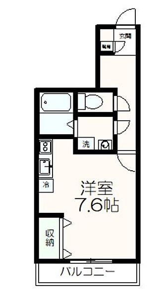 東京都多摩市鶴牧6丁目の賃貸アパートの間取り