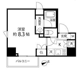 DeLCCS TOKYO BAY デルックス東京ベイ 6階1Kの間取り