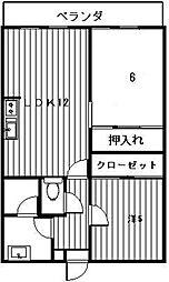 香住ヶ丘マンション[101号室]の間取り