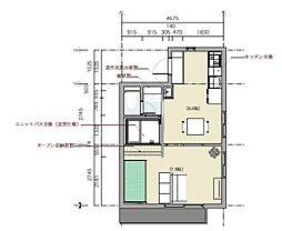 JR京浜東北・根岸線 大森駅 徒歩8分の賃貸マンション 2階1DKの間取り