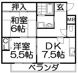 レジデンスJOY[2階]の間取り