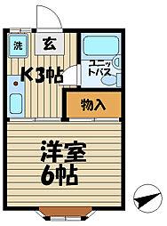ヴェルデ鎌倉[203号室]の間取り