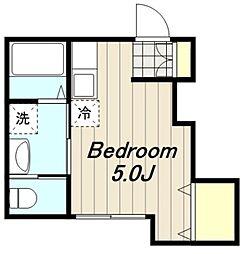 神奈川県相模原市緑区橋本6丁目の賃貸アパートの間取り