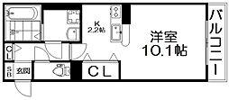 リヴェール香里園[3階]の間取り