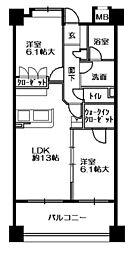 東急ドエルアルス博多ステーションサイド[403号室]の間取り