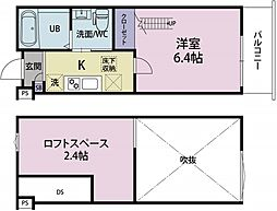 (仮称)前原西2丁目37新築アパート 1階1Kの間取り