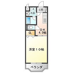 JR東海道本線 豊橋駅 バス17分 佐藤西下車 徒歩6分の賃貸マンション 1階1DKの間取り