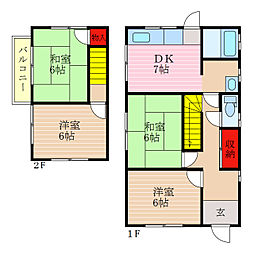 [一戸建] 滋賀県彦根市地蔵町 の賃貸【/】の間取り
