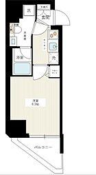 東急目黒線 西小山駅 徒歩11分の賃貸マンション 4階1Kの間取り