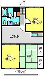神奈川県横浜市港北区日吉本町6丁目の賃貸マンションの間取り