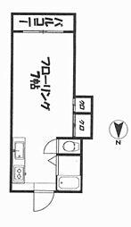 UP−ONE[202号室]の間取り
