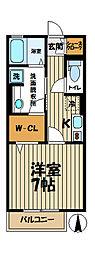 With湘南 A[2階]の間取り