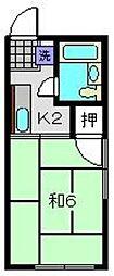 シティハイム中田A[1階]の間取り