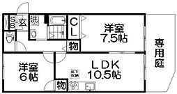 ツインコート[1階]の間取り