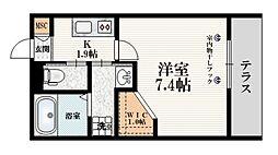 仮称 西巣鴨2丁目マンション 1階1Kの間取り