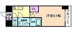 ララプレイス 大阪 ウエストゲート 8階1Kの間取り