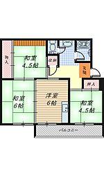 大阪府堺市西区堀上緑町1丁の賃貸マンションの間取り