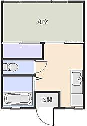 コーポ金子1[206号室]の間取り