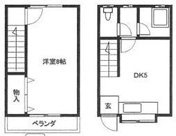 [テラスハウス] 福岡県春日市若葉台西6丁目 の賃貸【/】の間取り