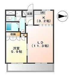 Blue−Ray Seilan[1階]の間取り
