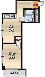 ハイム蘭[4階]の間取り