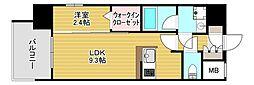 エンクレスト博多LEGEND[2階]の間取り