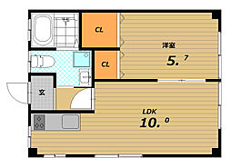 富井マンション[3階]の間取り