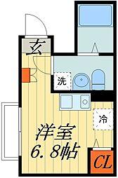 JR京浜東北・根岸線 さいたま新都心駅 徒歩11分の賃貸マンション 3階ワンルームの間取り