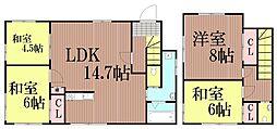 [一戸建] 東京都大田区中馬込3丁目 の賃貸【/】の間取り