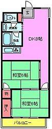 市川真間山本ビルディング[202号室]の間取り