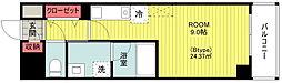JR横浜線 八王子みなみ野駅 徒歩3分の賃貸マンション 4階1Kの間取り