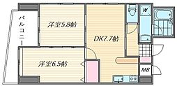 第8マルヤビル筥松[3階]の間取り