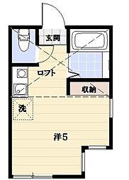 ユナイト登戸セサール・ロメロ[1階]の間取り