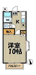 コートハウス湘南[201号室]の間取り