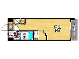 キララ天神南[2階]の間取り