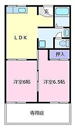 中谷ハイツ[2階]の間取り