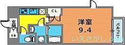 エスリード神戸三宮パークビュー[3階]の間取り