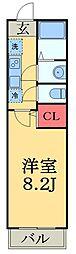 JR総武線 津田沼駅 徒歩14分の賃貸アパート 3階1Kの間取り