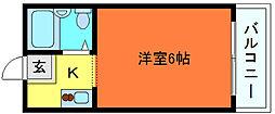 ダイドーメゾン六甲[4階]の間取り