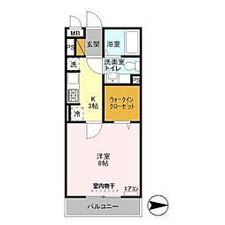 オッツ新鎌ケ谷[2階]の間取り