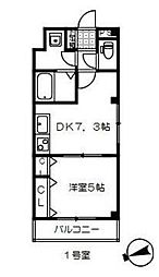 東武野田線 岩槻駅 徒歩9分の賃貸アパート 4階1DKの間取り