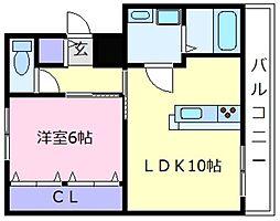 ライトコート[2階]の間取り