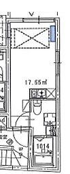 西武新宿線 野方駅 徒歩2分の賃貸マンション 1階ワンルームの間取り