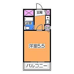 太田ビル 3階1Kの間取り