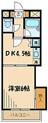 ソレーユ910163 3階1DKの間取り